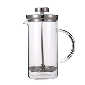 Glass French Press Coffee Maker Thick and Durable Glass Carafe