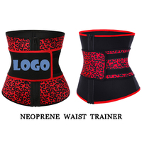 New Neoprene Leopard Print Waist Trainer Corset Slimming Shapers Custom Waist Trimmer Belt