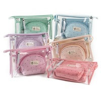 Fashion Brand Cosmetic Waterproof Neceser Portable Make Up Women PVC Pouch Travel Toiletry Bag