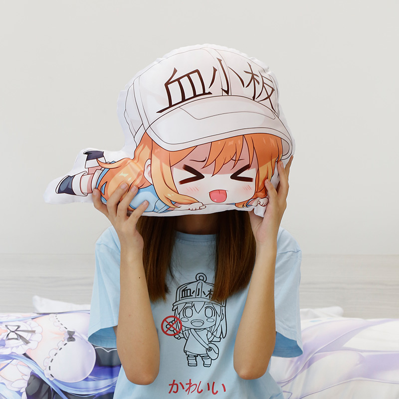 Hot Sales anime hug pillow irregular shaped  home decor cushion pillowcase