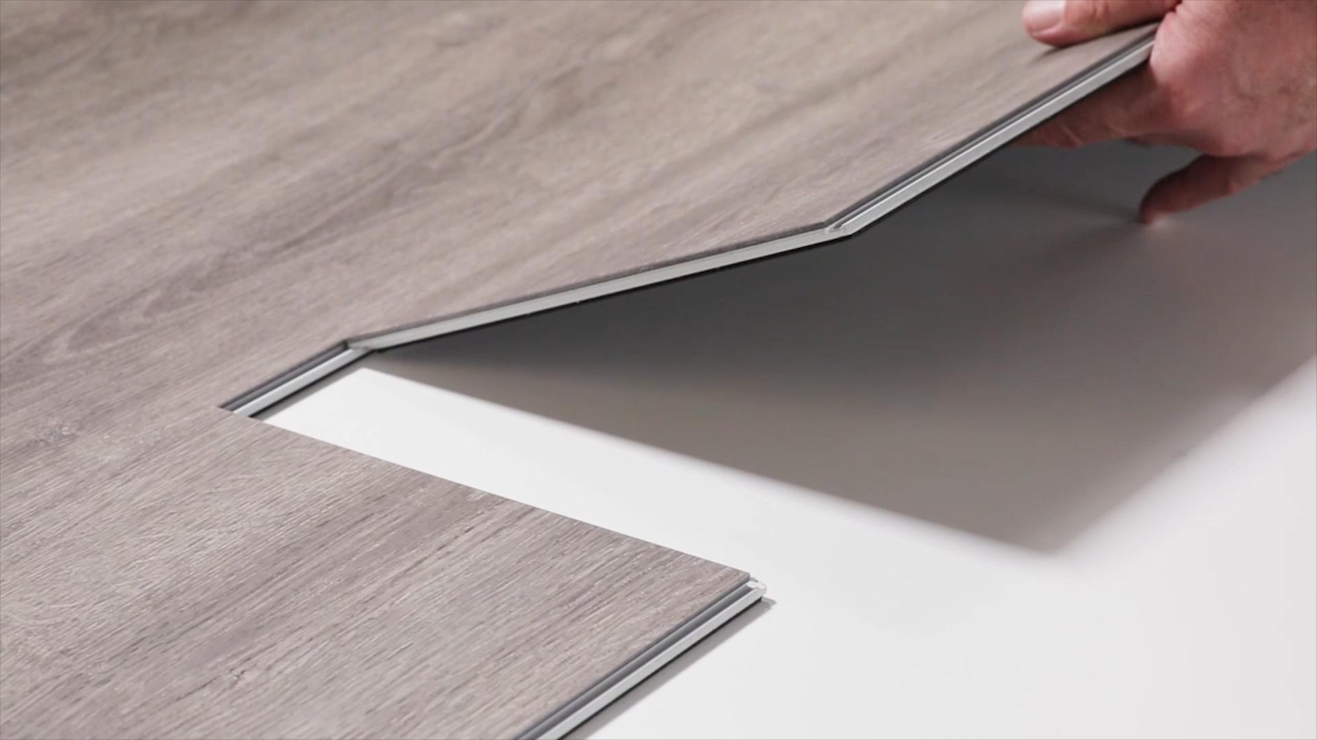 Độ Dày 4Mm Spc Flooring Click Plank Gạch Pvc Linh Hoạt Và Tấm Peel Và Stick Vinyl Sàn Gạch Không Thấm Nước Sàn