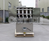 OMT Automatic 1 ton cube ice maker ice cube production line ice cube maker machine for African