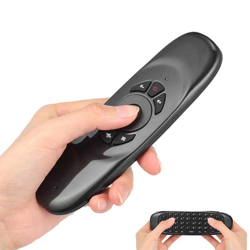 Заводская поставка 2,4 ГГц Беспроводная воздушная мышь C120 с мини QWERTY клавиатура Пульт дистанционного управления для ТВ-приставки