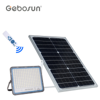 GEBOSUN High brightness remote control smd ip65 waterproof outdoor 40w 60w 100w 200w 300w solar led flood light