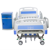Cheap Price Standard Dimensions Manual Medical Three Function Metal Hospital Bed