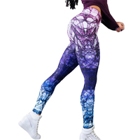 Fashion Sexy Hot Sale New Novelty Sublimation Printed Women Fitness Butt Lift Yoga Pants Leggings