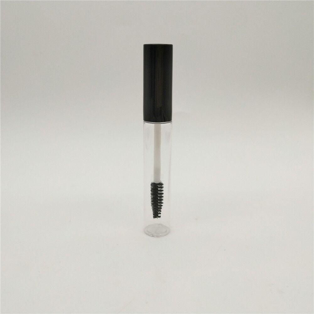 Wholesale 10ml Plastic Clear empty mascara wand tube bottle mascara packaging tube with mascara brush