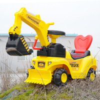 1-1 Children's electric excavator can ride toy car