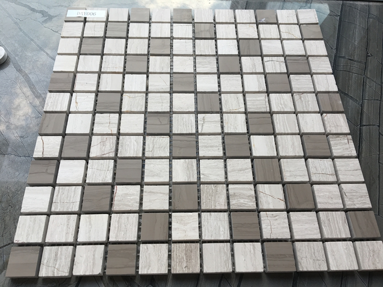 Hot Selling Athens Grey Grey wood Natural Stone Mosaic marble mosaic Manufacture from Foshan China
