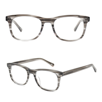 New Japanese design handmade acetate eyewear, metal frame optical acetate eyeglasses