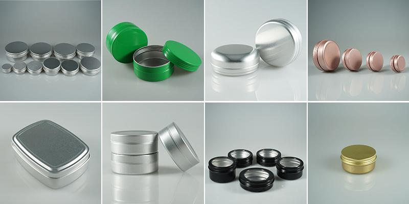 Matt/glanz 15g 30g 50g 100g schwarz food grade aluminium jar/bart öl kann /lagerung aluminium zinn