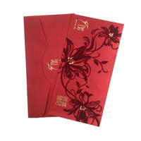custom hong bao chinese new year money red envelope Ang Pao velvet red packet