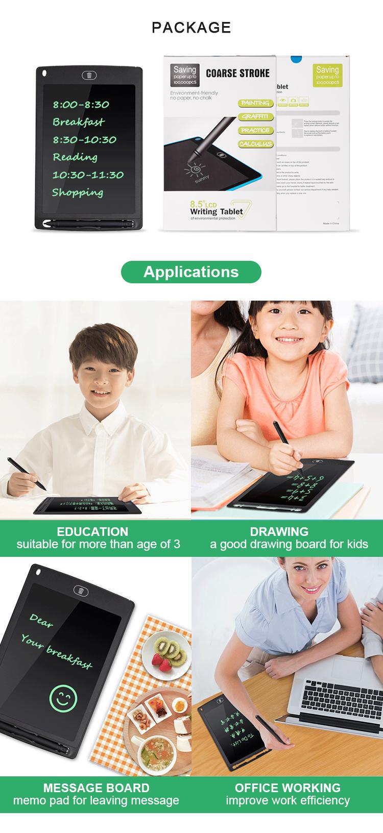 Newyes En Gros Tablette D'écriture Lcd 8.5 Pouces Électronique Numérique Tableau Noir Pour Les Enfants