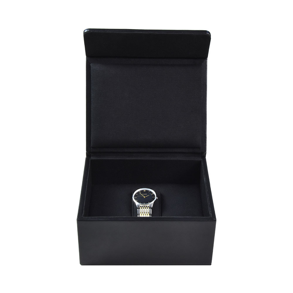 Custom luxury portable single slot leather watch storage gift box