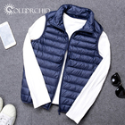 Men Anti-Wrinkle Slim 90% White Duck Boy Waistcoat Down Jacket Heated Vest
