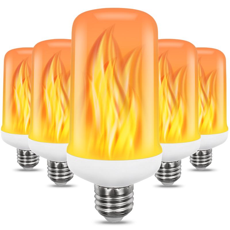 SHENPU High Quality Manufacturer Ce Rohs Led Flame Bulb Light 2Years Warranty Flame Fire Light PC 450LM Fire Led