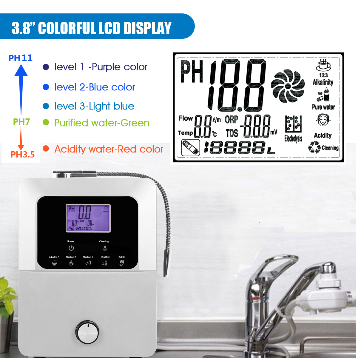 EHM Ionizer alkaline water machine from China for family-12