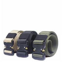 Hot Design Black 1.5 Inches Alloy Metal Tactical Belt Military quick release Belts Buckle
