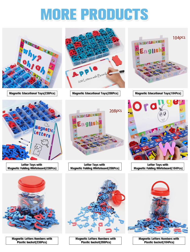 238 Pcs Amazon Hot Selling EVA Foam Magnetic Letter Refrigerator Sticker For Kids