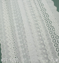 Broderie anglaise lace trim ricamato occhiello <span class=keywords><strong>pizzo</strong></span> <span class=keywords><strong>di</strong></span> <span class=keywords><strong>cotone</strong></span>