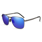 DHK2462 Outdoor style alloy frame tac 1.1 uv400 mirror lens square shades driving sunglasses