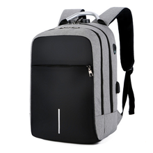 big-capacity student's school computer backpack outdoor travel laptop with USB charging backpack