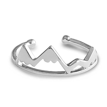 <span class=keywords><strong>Einfache</strong></span> stil offenen ring 925 sterling silber berg ring