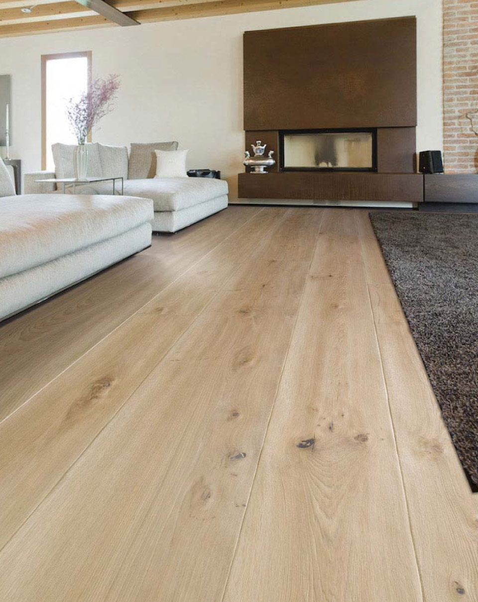 White Oak Engineered Solid Wood Floor