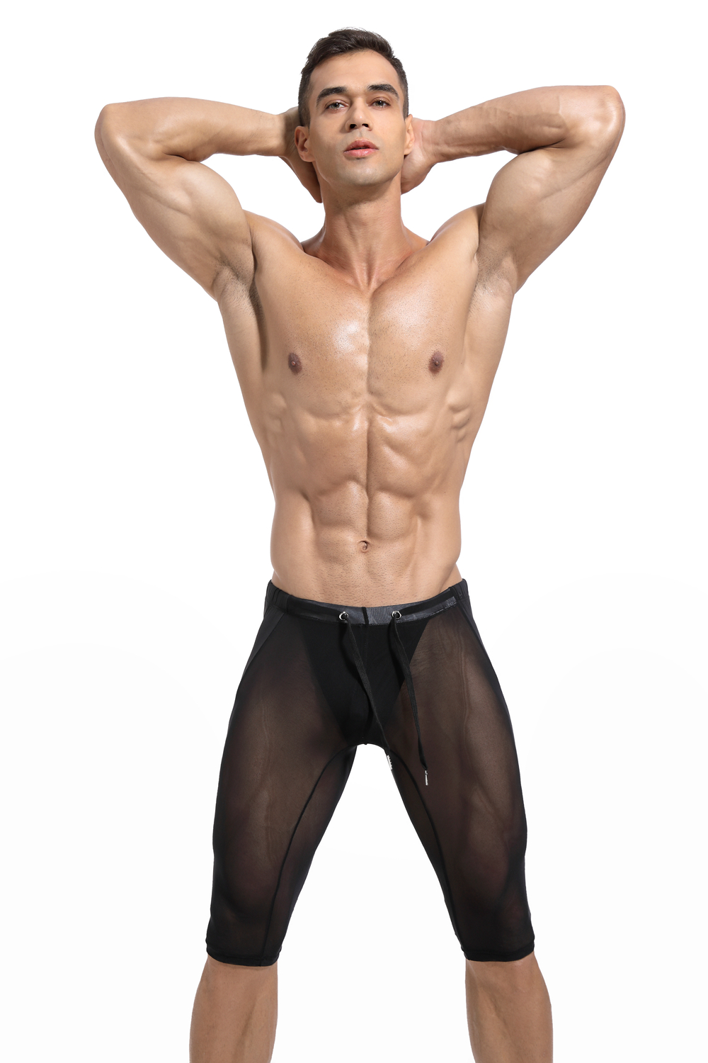 New Arrival Mens Sheer Boxer Short Underwear Slim Fit