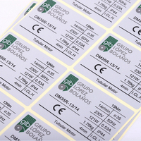 Private PVC waterproof Permanent Industry Sticker CE Electronic Products Labels