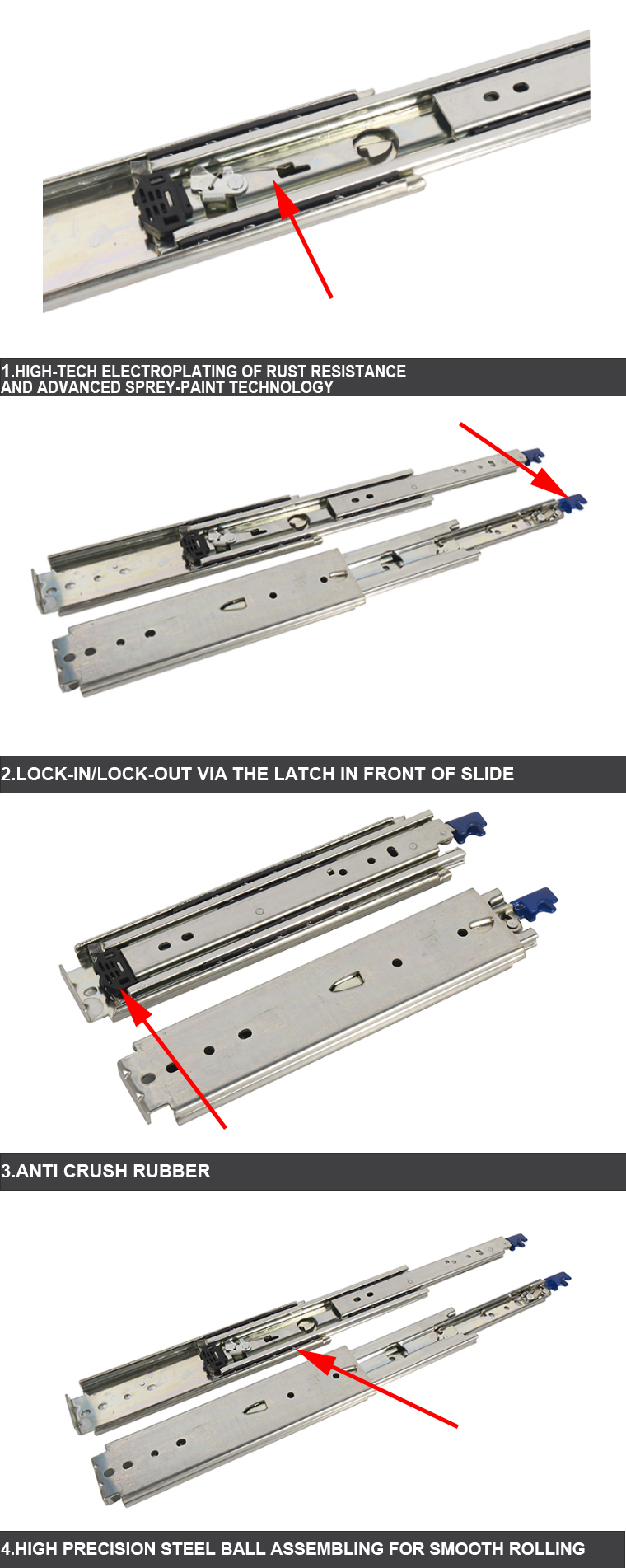 automatic drawer slides