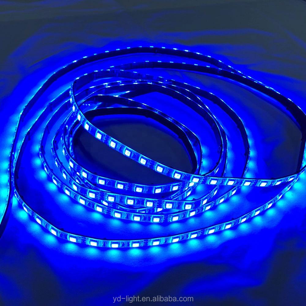 Merah Kuning Biru Hijau RGB RGBW Berwarna Putih IP65 Tahan Air 14.4 W/m SMD5050 CRI> 80Ra LED Di Bawah Lemari Kabinet strip