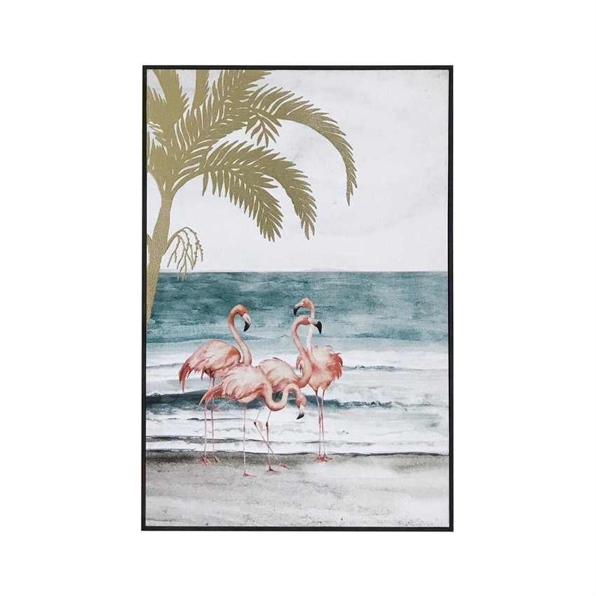 <strong>Pictures</strong> of happy children living room bedroom decoration painting summer seaside flamingo diamond animal painting