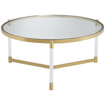 Round Acrylic Dining Table, Home Furniture Acrylic Coffee Table