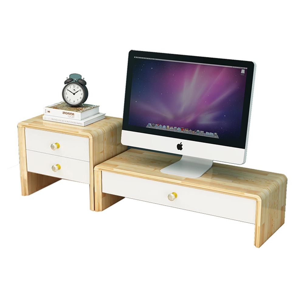 DIY Schreibtisch Holz Monitor Riser Stand Regal w/ 3 Schublade Tastatur Lagerung Organizer für Computer, Laptop, schreibtisch, iMac, Umweltfreundliche