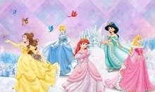 Milofi пользовательские 3D обои настенная детская комната девушка розовая девушка сердце Дисней тема Милая принцесса гостиная спальня фон(Китай)