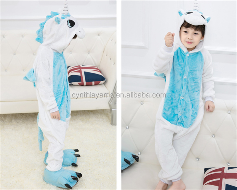 Cynthia Kigurumi Unicorn Pajamas Sets Flannel Cute Animal Pajamas
