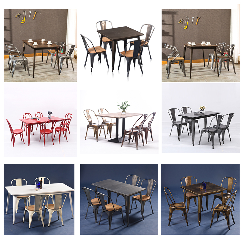 Uptop Furnishings modular cafe table and chairs bulk production for restaurant-4