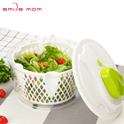 Smile mom Plastic Manual Salad Spinner With Bowl