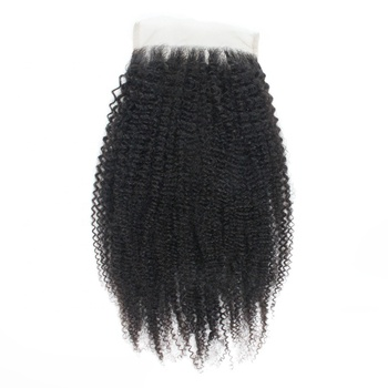 high density afro kinky curly lace closure