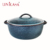 Ceramic Bakeware Stoneware Covered Round Casserole Covered Dutch Oven Reactive Galzed Blue
