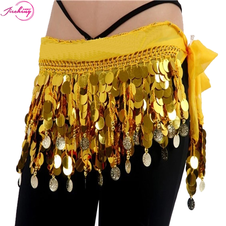Egyptian <strong>belly</strong> <strong>dance</strong> sequined loincloth belt for ladies OEM bollywood hip skirt scarf