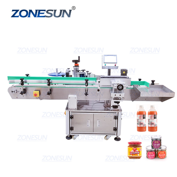 ZONESUN XL-T821 Vial Glass Jar Can Sticker Wine Water Bottle Sleeve Automatic Round Bottle Labeling Machine For Round Bottles