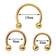 1-5 шт u-образное кольцо для носа поддельные перегородки набор для пирсинга обруч для губ серьги из нержавеющей стали Подкова нариз ювелирные...(China)