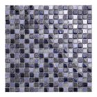 Hot Sale Interior Decoration Walls Dark Purple Cracked Glass Mosaic Tiles Cheap