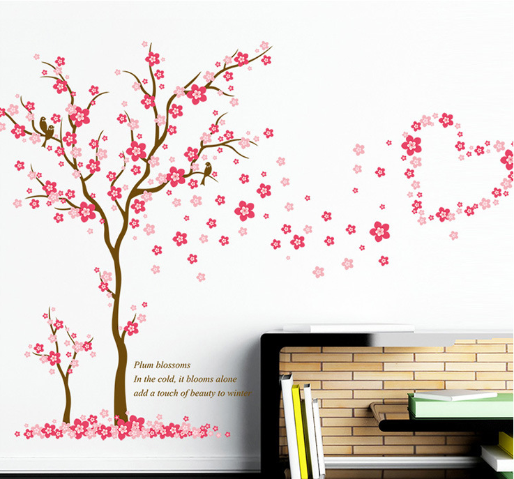 4C Printing Kids Decoration Pvc Colorful Wall Stickers Tree Home Decor