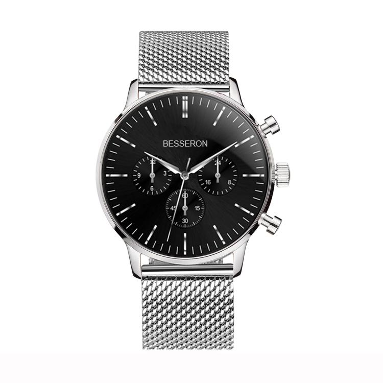 Low moq minimalist watch men wrist chronograph geniune leather watches men wrist luxury watches