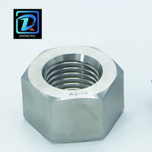 Large diameter stainless steel hex nut