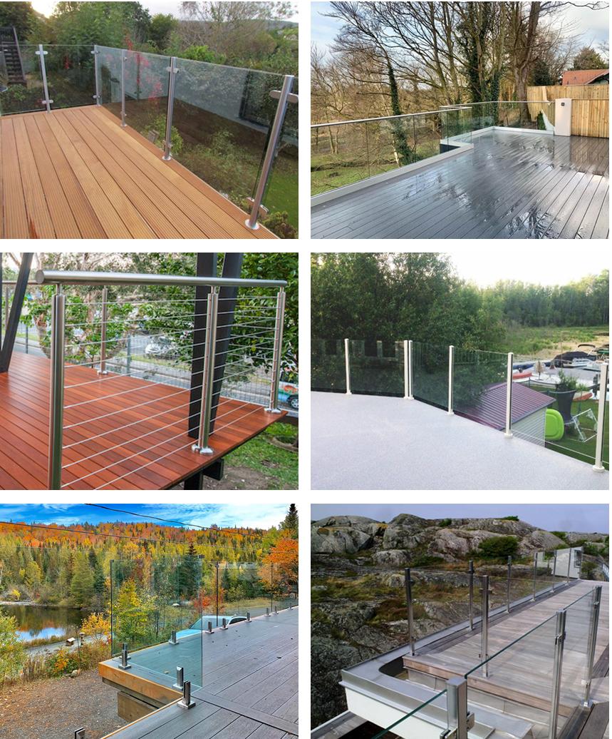 Roof Deck Balustrade Handrails Stainless Steel Stair ...