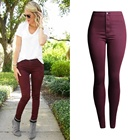 Plus size women cotton jeans pencil pants